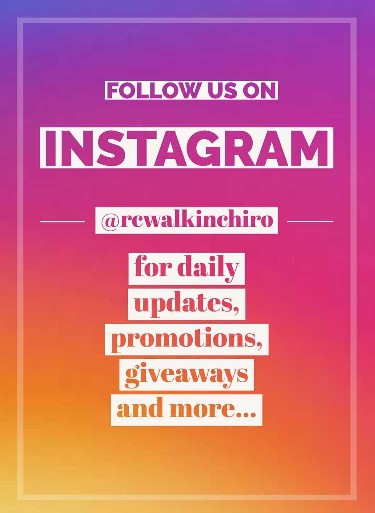 Follow RC Walk-In Chiropractic on Instagram